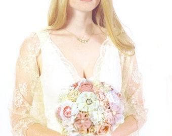Blush bridal bouquet,  wedding bouquet, fabric flowers bouquet, keepsake bouquet, bespoke bouquet, pink bouquet, wedding accessories