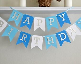 Boy 1st Birthday Banner - 1st Birthday Decoration Boy - First Birthday Party Boy - First Birthday Banner Boy - 40th Banner - 50th Banner