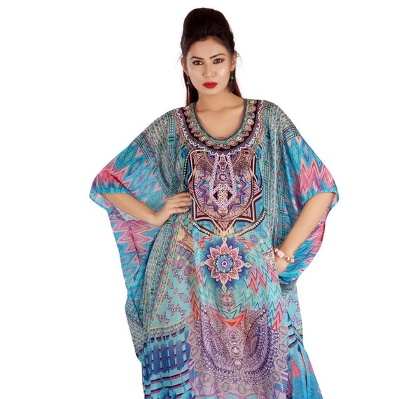 kaftan silk 260 and fashion wear emblleshed Heavily maxi latest made resort dressy long plus hand caftan beach elegant kaftan beach woman RRa1YqwF