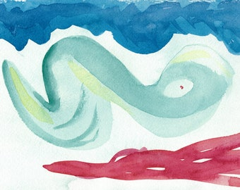 Between Happy and Sad - Abstract Watercolor Painting Print