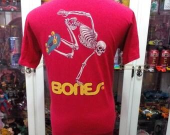 Powell Peralta Bones Brigade Skateboard Santa Cruz Zorlac Tony Hawk T Shirt