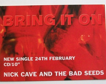 NICK CAVE NOCTURAMA Bring It On Promo Only Postcard The Bad Seeds Birthday Party Uk Alternative Indie Rock Memorabilia