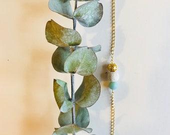 Essential Oil Diffuser Bracelet, Amazonite, Mala Bracelet, Yoga Bracelet, Gemstone Bracelet, Meditation Bracelet, Spiritual Gift