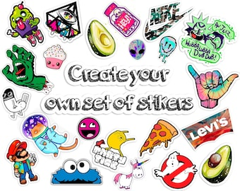 Custom Sticker Vinyl Random Stickers Pack Funny Sticker Pack Stickers for  iPhone Cute Vinyl Stickers Vinyl