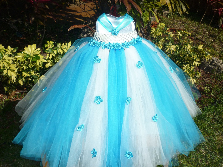Flower girl dress Toddler tutu dress baby tutuTurquoise