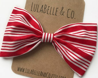 Liberty in Red LulaBelle Bow // American Flag // America // Fourth of July // Red White and Blue // Patriotic // Stripes // Striped