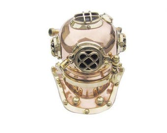 Noble diving bell made of copper and brass nautical nautical 19 cm