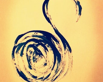 Blue Swan - downloadable and printable art