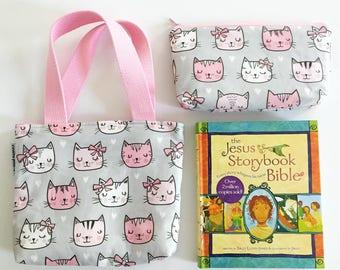 kid bible combo set -- cats
