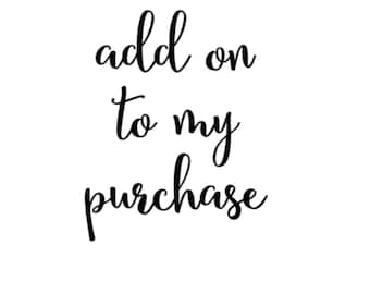 Add On for Purchases