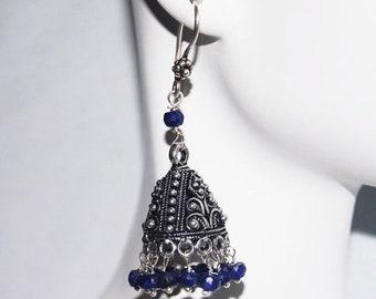Mothersdaysale Chandelier Earrings - Sapphire Chandelier Earrings -Blue Earrings- Jhumka Earrings-September  Birthstone Earrings