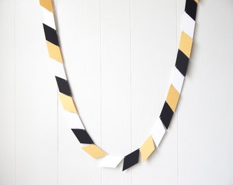 Black and Gold Garland / Parallelogram Garland / Bunting / Banner / Photo Backdrop / Party Decor