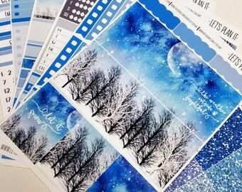 Silent Night |  Vertical weekly kit | Planner stickers (#ws-SiN)