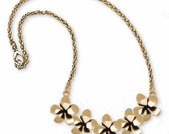 Plumeria Necklace Jewelry 14k Gold Handmade Flower Necklace PLM1-NKG