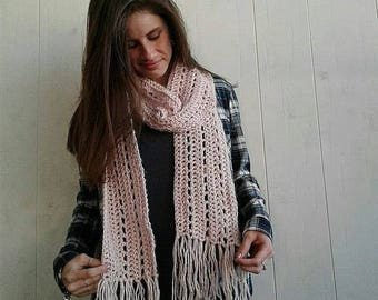 Simple fringe scarf