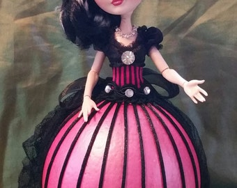 Colette, Is a One of a Kind 12 inch  Ostrich Egg Art Doll