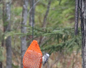 Suet Bird Feeder Bag - Authentic Maine Made Lobster Bait bags for use for Bird Suet