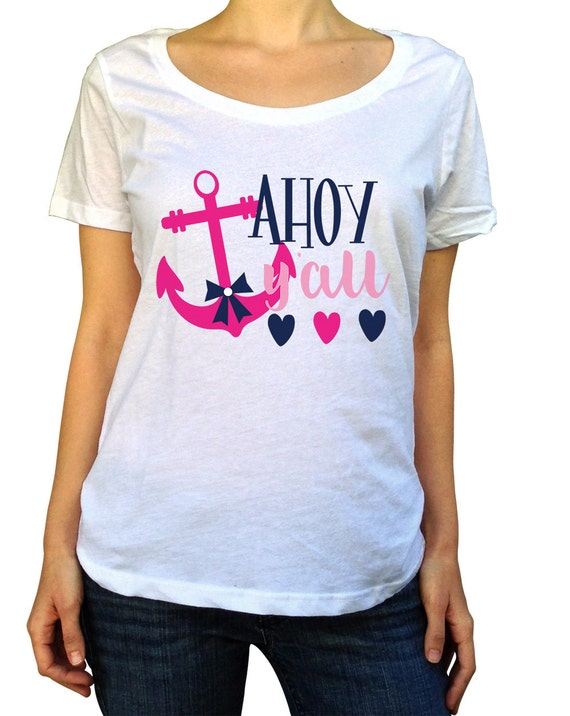 Ahoy Shirt Nautical Baby Shower Nautical Shower Nautical