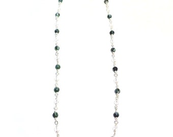 Seraphinite and Quartz Necklace