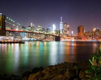 Brooklyn Bridge, New York, Night Photography, Long Exposure, Brooklyn, Fine Art Photography