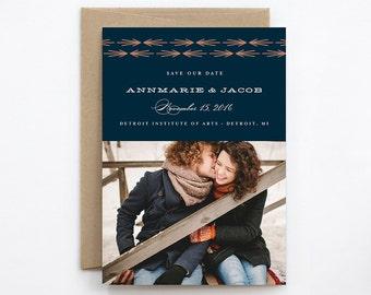 Wedding Save the Date - Arrow - Card & Envelope