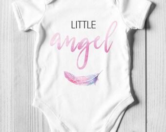 """Bodysuit """"Little angel"""" - pink"""