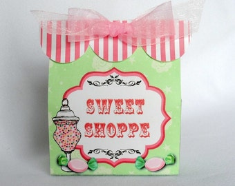 Sweet Shoppe Favor Box Printable Instant Download