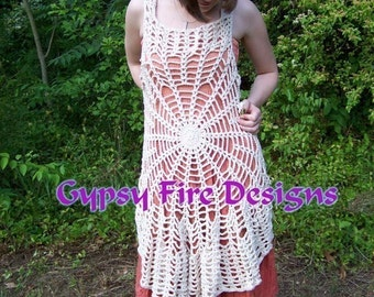 Spider Web Mandala Vest  Dress PATTERN Make your own