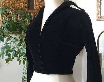 1950s Koret of California Velveteen Bolero