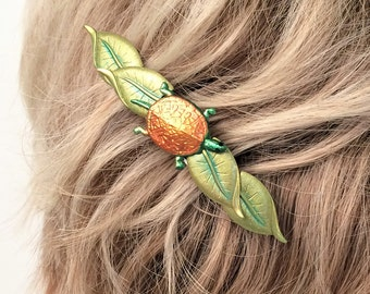 Turtle Hair Barrette, Nature Hair clip