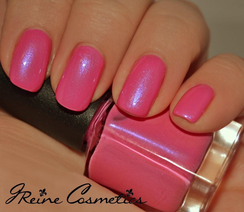 Cotton Candy Nail Polish: Cotton Candy Pink With Blue Shimmer Nail Polish