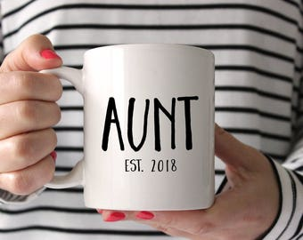 Aunt gift, Aunt mug, Gift for Aunt, New Aunt, Sister Gift, Birth Announcement, pregnancy reveal, custom uncle mug, Personalized Mug