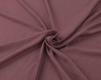 Mauve Pale Light-weight Rayon Spandex Jersey Knit Fabric - 160 GSM by the Yard - Style 13390