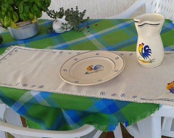 Hand painted Rooster runner pugliese