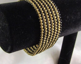 Black and Gold Peyote Stripe