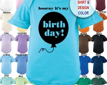 Hooray It's My Birthday distressed design Bodysuit - Boys / Girls