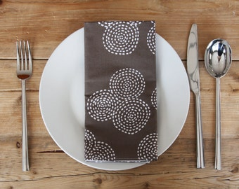 Eco-Friendly Large Dinner Size Napkins - Set of 4 Reversible Cloth - choose a color