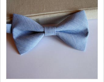 Bow tie blue and white stripe