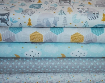 Sweet Dreams Blue Fabric Bundle by Maude Asbury for Blend Fabrics