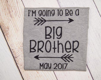 Big Brother Shirt - I'm going to be a Big Brother - Pregnancy Announcement Bodysuit - Baby Announcement - Pregnancy Reveal - Sibling Shirt