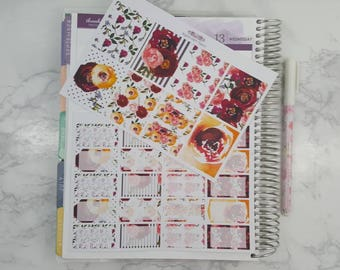 Fall Floral Burst Full and Half Box Stickers