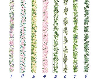 Flower, Grass Tape, Creative, Wreath, Fresh, Colorful, Green, Stationery