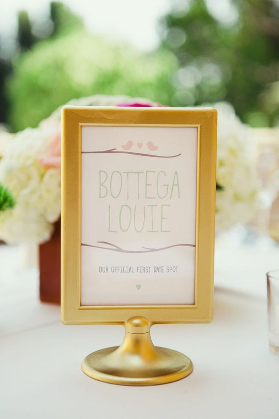 Old Fashioned Table Number Picture Frames Wedding Model - Custom ...