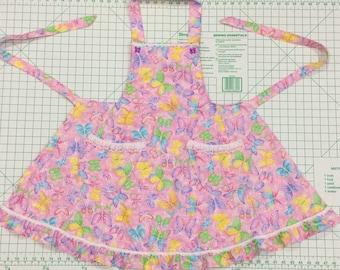 Girls butterfly apron