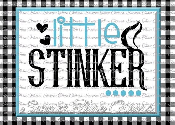 Baby Boy SVG Little Stinker Svg bodysuit cut file boy