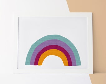 Nursery Decor Wall Art, Wall Art Nursery Decor, Nursery Decor Rainbow, Rainbow Print, Decor Rainbow, Nursery Rainbow, Wall Art Nursery, Art