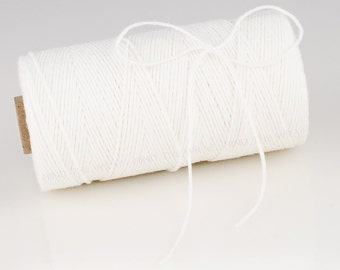 Divine Twine Solid White - 240 yard spool - 100% Cotton Bakers Twine - made in the USA