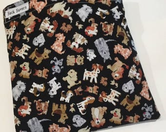 Reusable Sandwich Bag Reusable Snack Bag Eco Friendly Bag Cute Puppy Dog Snack Sandwich Bag