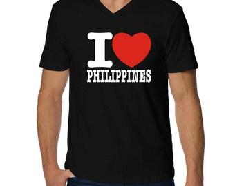I Love Philippines V-Neck T-Shirt