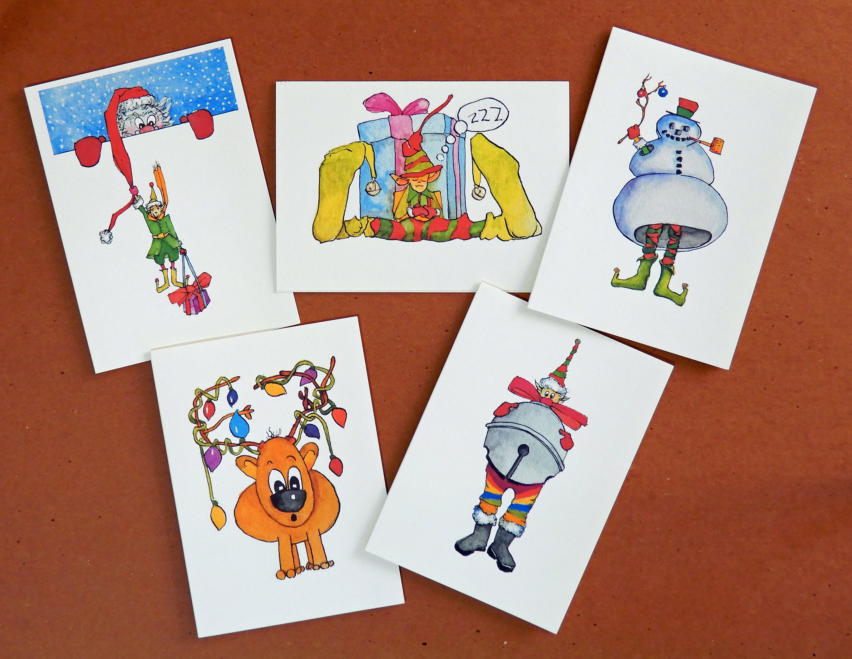 Handmade Original Humorous Funny Christmas Cards